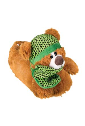 Twigy J0563 Tw Daraga Şapkalı Kahverengi-Yeşil Kadın Panduf
