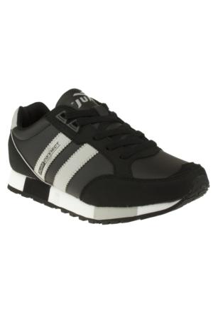 Jump 2392 Çift Şerit Bağlı Siyah Unisex Spor Ayakkabı