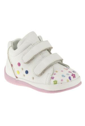 Vicco 918Y016 Çift Cırt Beyaz Çocuk Ayakkabı