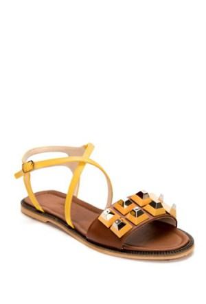 Mizu Taba Çapraz Bilek Bantlı Troklu Sandalet