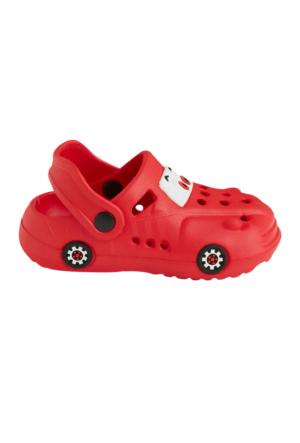 Soo be Baskılı Sandalet Kırmızı