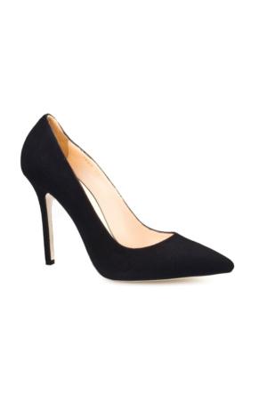 Cabani Yüksek Topuk Kadın Ayakkabı Siyah Süet