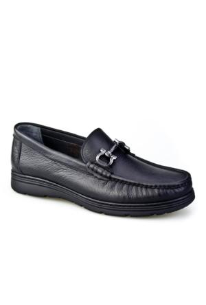 Cabani Tokalı Erkek Ayakkabı Siyah Kırma Deri