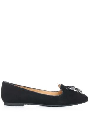 Enzo Angiolini Easkylere Siyah Gerçek Süet Ayakkabı