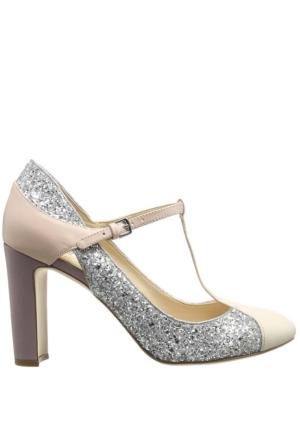 Nine West Nwviper3 Krem-Gümüş-Lila Gerçek Deri Ayakkabı
