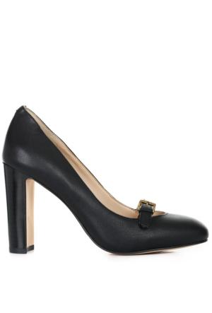 Nine West Nwviyana Siyah Gerçek Deri Ayakkabı