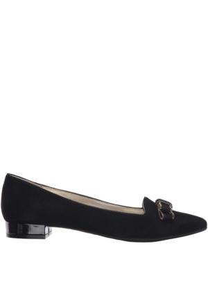 Anne Klein Akkeana Siyah Gerçek Süet Ayakkabı