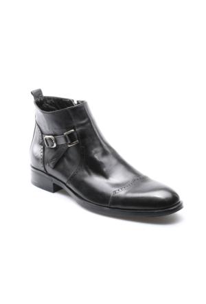 Garamond 2297 M 1366 Siyah Erkek Deri Klasik Ayakkabı
