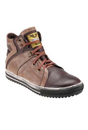 Mytrax 1865 Kum Rengi Erkek Çocuk Deri Sneaker