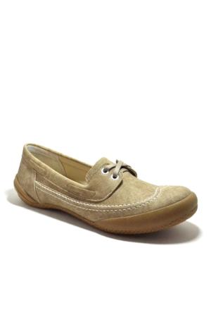 Baldano Krem Ortopedik Büyük Numara Kadın Günlük Ayakkabı