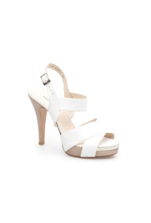 Pedro Camino Kadın Klasik Ayakkabı 81211 Beyaz-Camel