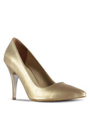 Marjin Siyso Topuklu Ayakkabı Altın