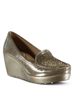 Marjin Osar Dolgu Ayakkabı Altın