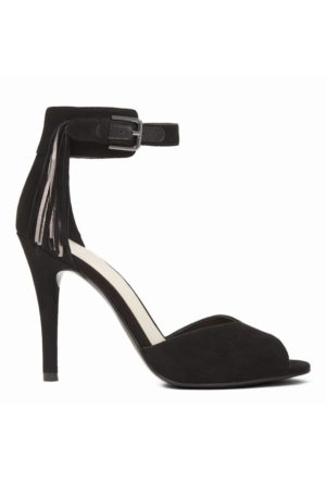 Nine West Amma2O Siyah Kumaş Sandalet