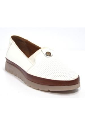 King Paolo K8416 Günlük Kadın Deri Ortopedik Ayakkabı