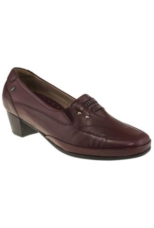 Forelli 33402 Topuklu Comfort Bordo Kadın Ayakkabı
