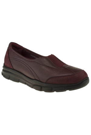 Forelli 35932 Comfort Bordo Kadın Ayakkabı