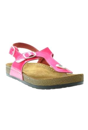 Muya P.a Cift Toka Fuşya Çocuk Sandalet