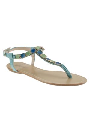 Twigy 0800 Taşli P.a Mavi Kadın Sandalet
