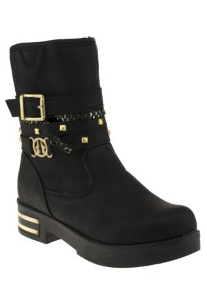 Vicco 955Y361 Sade Tokali Fermuarli Siyah Çocuk Çizme