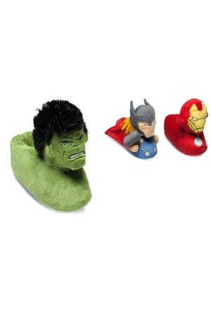 Defonseca Avengers Hulk Yeşil Çocuk Panduf