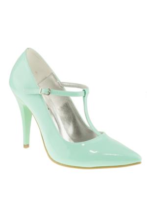 Alisolmaz 734 Sivri Burun Klasik Yeşil Kadın Ayakkabı