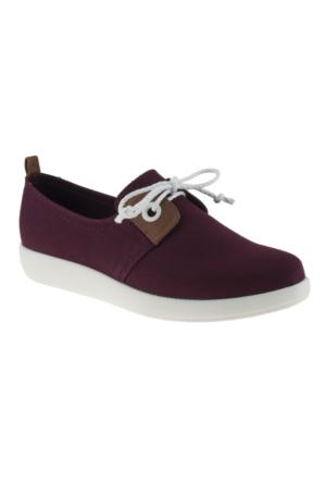 Damlax 2982 Bağlı Casual Bordo Kadın Ayakkabı