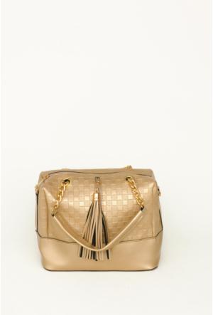 Güzel Çanta Altın Kadın El Çantası-216