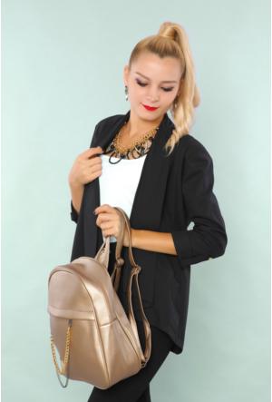 Ytş Çanta Altın Kadın Sırt Çantası-192
