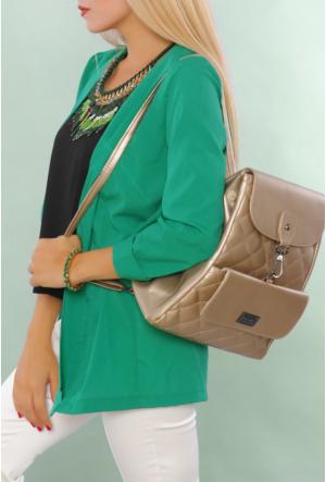 Güzel Çanta Altın Kadın Sırt Çantası-217