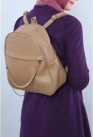 Ytş Çanta Bej Kadın Sırt Çantası-192