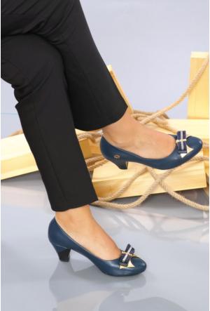 İlker Kundura Lacivert Klasik Kadın Ayakkabı-418