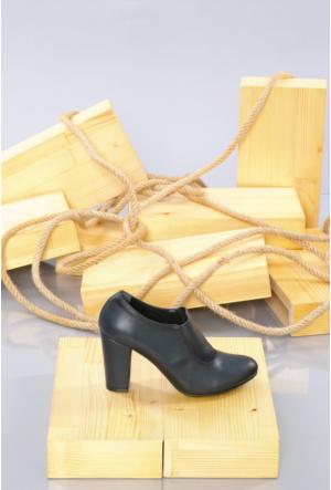 Oflaz Lacivert Klasik Kadın Ayakkabı-K0557