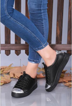 Doğal Ayakkabı Siyah Günlük Kadın Ayakkabı-1604