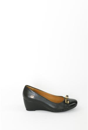 İlker Kundura Siyah Klasik Kadın Ayakkabı-309
