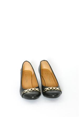 İlker Kundura Siyah Klasik Kadın Ayakkabı-423