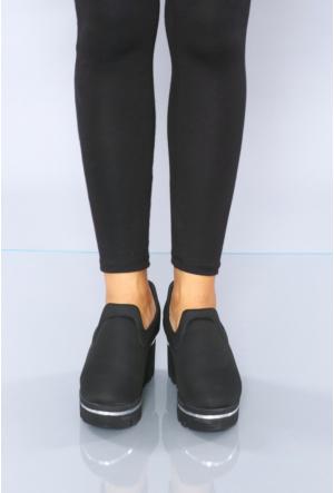 Park Moda Siyah Spor Streç Kadın Ayakkabı-760