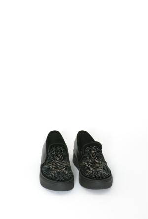 Celens Siyah Taşlı Kadın Ayakkabı-K209
