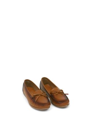 Zerrin Ayakkabı Taba Tek İğne Kadın Ayakkabı-112991