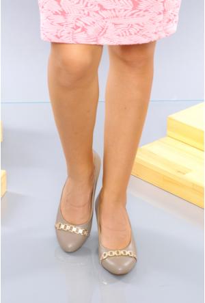İlker Kundura Vizon Klasik Kadın Ayakkabı-423