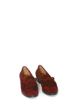 Swellsoft Bordo Süet Günlük Kadın Ayakkabı-31
