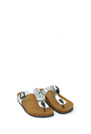 Fidan Ayakkabı Gümüş Parmak Arası Kadın Terlik