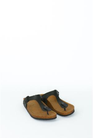 Fidan Ayakkabı Siyah Parmak Arası Kadın Terlik