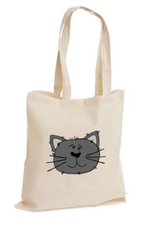 XukX Dizayn Sevimli Kedi Bez Çanta