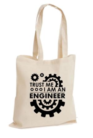 XukX Dizayn Trust Me, I'm An Engineer Mühendis Bez Çanta 2
