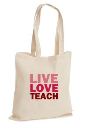 XukX Dizayn Live Love Teach Öğretmen Bez Çanta