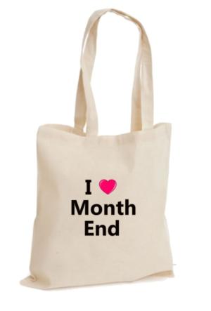 XukX Dizayn I Love Month End Muhasebeci Çanta
