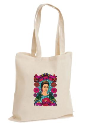 XukX Dizayn Frida Kahlo Bez Çanta 3