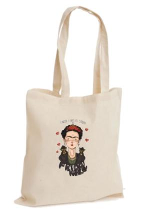 XukX Dizayn Frida Kahlo Bez Çanta 4
