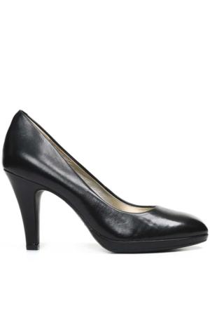 Anne Klein Aklolana Siyah Gerçek Deri Platform Ayakkabı